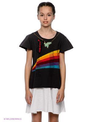 Платье Mini Shatsu. Цвет: белый, темно-серый