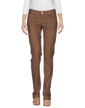 Джинсовые брюки PEUTEREY. Цвет: коричневый