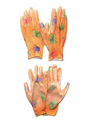 Садовые перчатки, 2 пары DiMi. Цвет: оранжевый