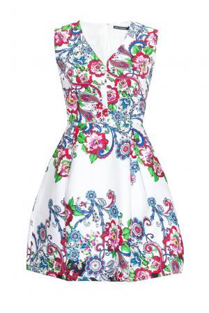 Платье из искусственного шелка 167873 Paola Morena. Цвет: разноцветный