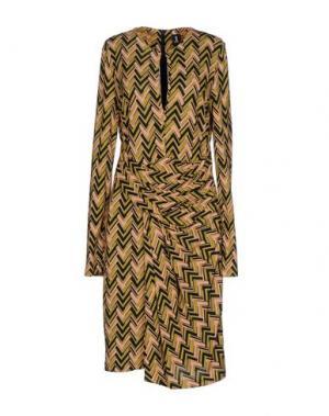 Короткое платье 1-ONE. Цвет: кислотно-зеленый