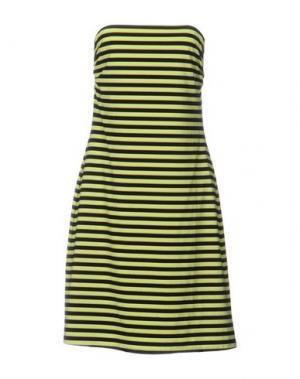 Короткое платье FISICO. Цвет: светло-зеленый