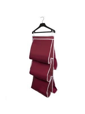 Органайзер для сумок в шкаф Red Rose Homsu. Цвет: бордовый