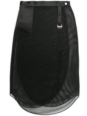 Perforated wrap skirt The Reracs. Цвет: чёрный