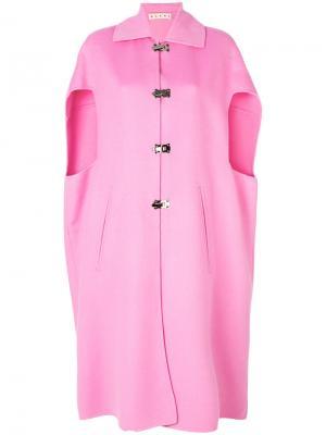 Удлиненный жилет-кейп Marni. Цвет: розовый и фиолетовый