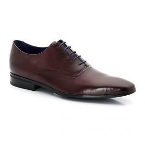 Ботинки-дерби из кожи со шнуровкой AZZARO. Цвет: каштановый