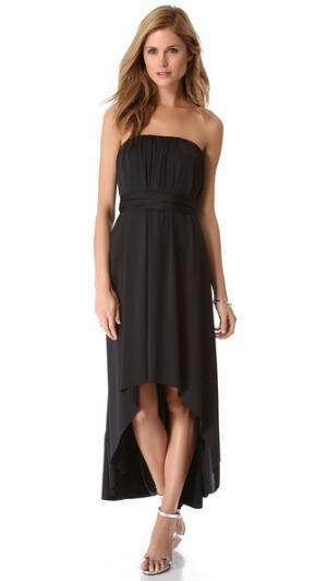 Асимметричное платье Twobirds. Цвет: голубой