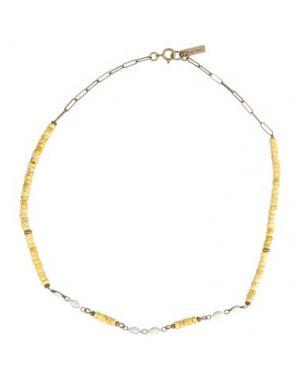 Ожерелье ISABEL MARANT. Цвет: желтый