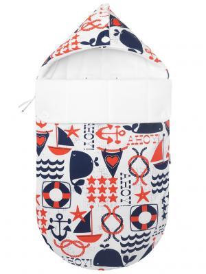Конверт для новорождённого в автокресло Свистать всех наверх! (зима) MIKKIMAMA. Цвет: синий, красный, белый