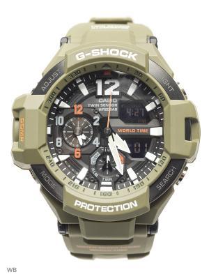 Часы G-Shock GA-1100KH-3A CASIO. Цвет: хаки