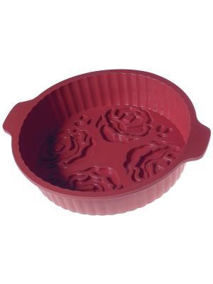 Форма для выпечки Regent inox. Цвет: бордовый