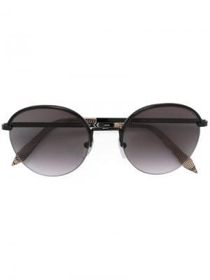 Солнцезащитные очки в круглой оправе Victoria Beckham. Цвет: чёрный