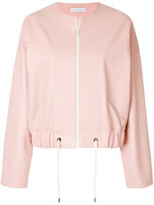 Укороченная куртка без воротника Inès & Maréchal. Цвет: розовый и фиолетовый