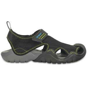 Босоножки Swiftwater Sandal M CROCS. Цвет: черный