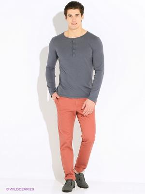 Лонгслив United Colors of Benetton. Цвет: серый, серый меланж