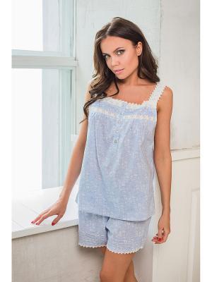 Комплект одежды Mia-Mia. Цвет: голубой