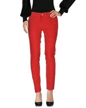 Повседневные брюки NOTIFY. Цвет: красный
