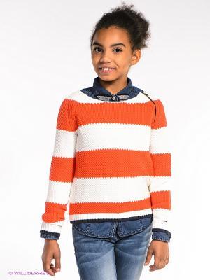 Джемпер Tommy Hilfiger. Цвет: оранжевый, белый