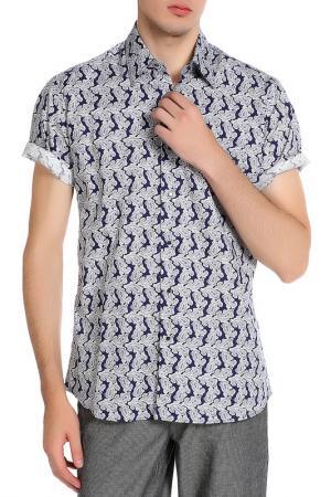 Рубашка Karl Lagerfeld. Цвет: синий