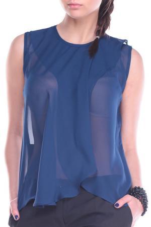 Блуза REBECCA TATTI. Цвет: темно-синий