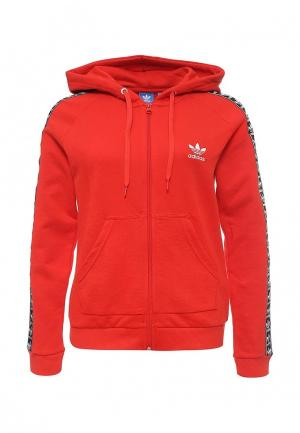 Толстовка adidas Originals. Цвет: красный