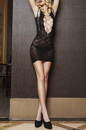 Платье комильфо TEMPTLIFE. Цвет: черный