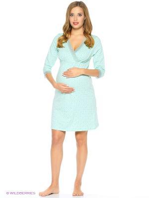 Сорочка женская для беременных и кормящих Hunny Mammy. Цвет: молочный, черный, светло-зеленый