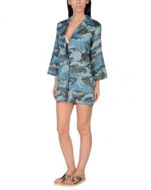 Пляжное платье GRAZIA'LLIANI SOON. Цвет: цвет морской волны