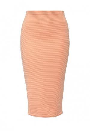 Юбка Edge Clothing. Цвет: оранжевый