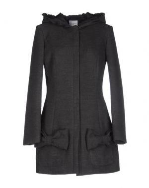 Пальто PINK BOW. Цвет: свинцово-серый