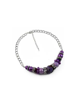 Дизайнерское ожерелье FOXTROT. Цвет: сиреневый