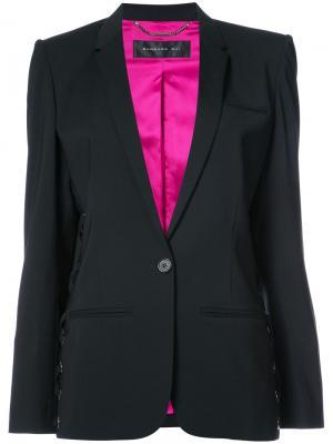 Пиджак со шнуровкой Barbara Bui. Цвет: чёрный