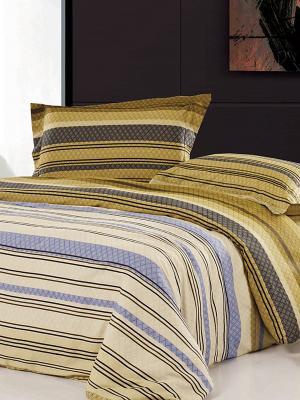Комплект постельного белья. Soft Line. Цвет: горчичный