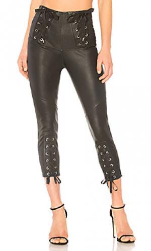Кожаные брюки nilda Marissa Webb. Цвет: черный