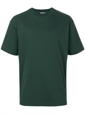 Классическая футболка Sunspel. Цвет: зелёный