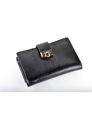 Бизнес-портмоне Topo Fortunato TF 5337-006A Бабочки. Цвет: черный