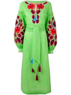 Платье Eden Tree Yuliya Magdych. Цвет: зелёный