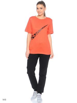 Футболка W NSW TOP SS TANGRAMS GX Nike. Цвет: оранжевый