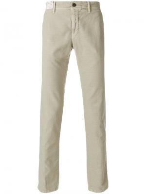 Прямые брюки Incotex. Цвет: телесный