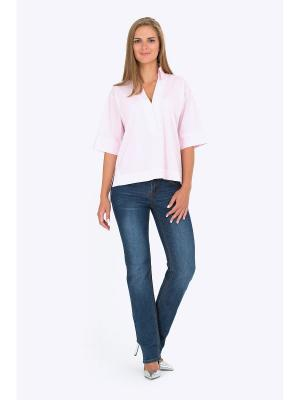 Блузка EMKA FASHION. Цвет: бледно-розовый