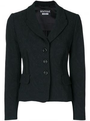 Жаккардовый пиджак Boutique Moschino. Цвет: чёрный