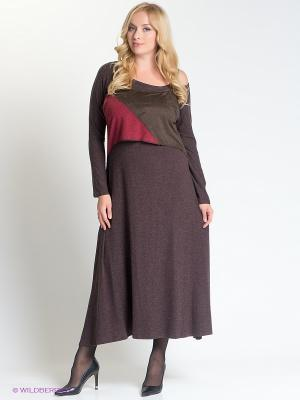 Платье МадаМ Т. Цвет: коричневый, бордовый