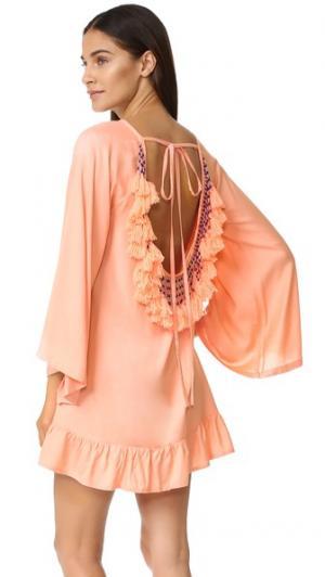 Платье Indiana SUNDRESS. Цвет: лососевый