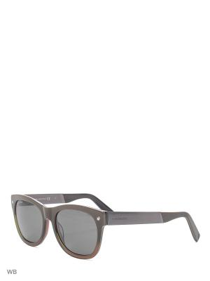 Солнцезащитные очки DQ 0162 47A Dsquared2. Цвет: коричневый, хаки
