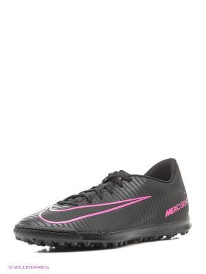 Бутсы MERCURIALX VORTEX III TF Nike. Цвет: черный