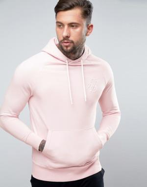 SikSilk Худи розового цвета. Цвет: розовый
