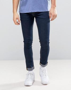 Hoxton Denim Синие джинсы скинни. Цвет: синий