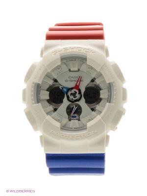 Часы G-Shock GA-120TRM-7A CASIO. Цвет: белый, красный, синий
