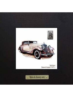 Картина-сувенир Rolls-Royce, Phantom II Continental (1931 г.) Ceramic Picture. Цвет: черный, темно-зеленый, антрацитовый