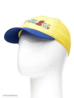 Бейсболка Maxval. Цвет: светло-желтый, синий